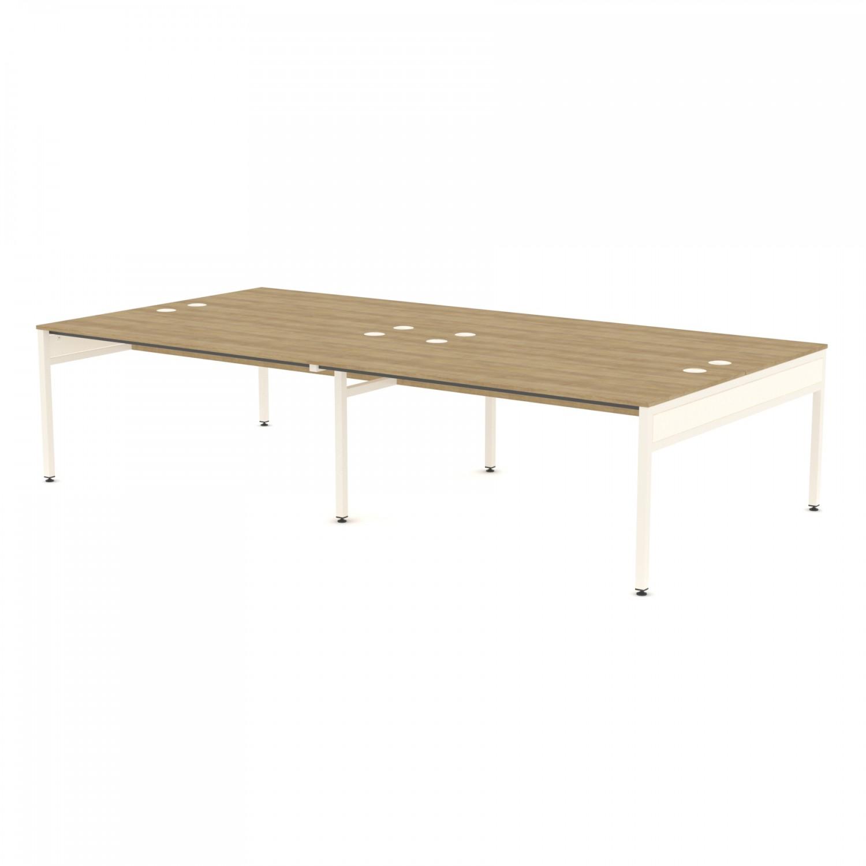 Libra Rectangular Four Bench (Back to Back) Desk