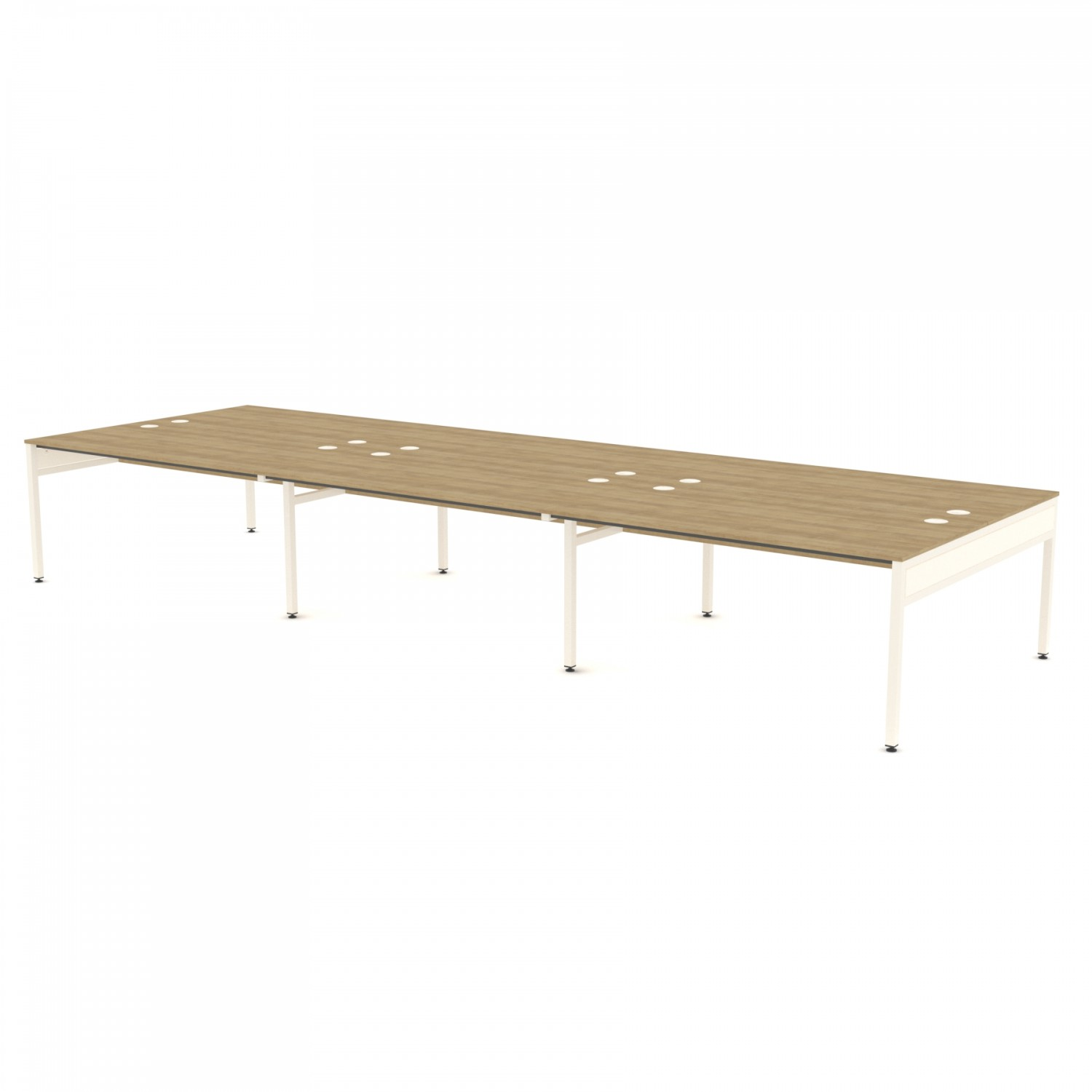 Libra Rectangular Six Bench (Back to Back) Desk