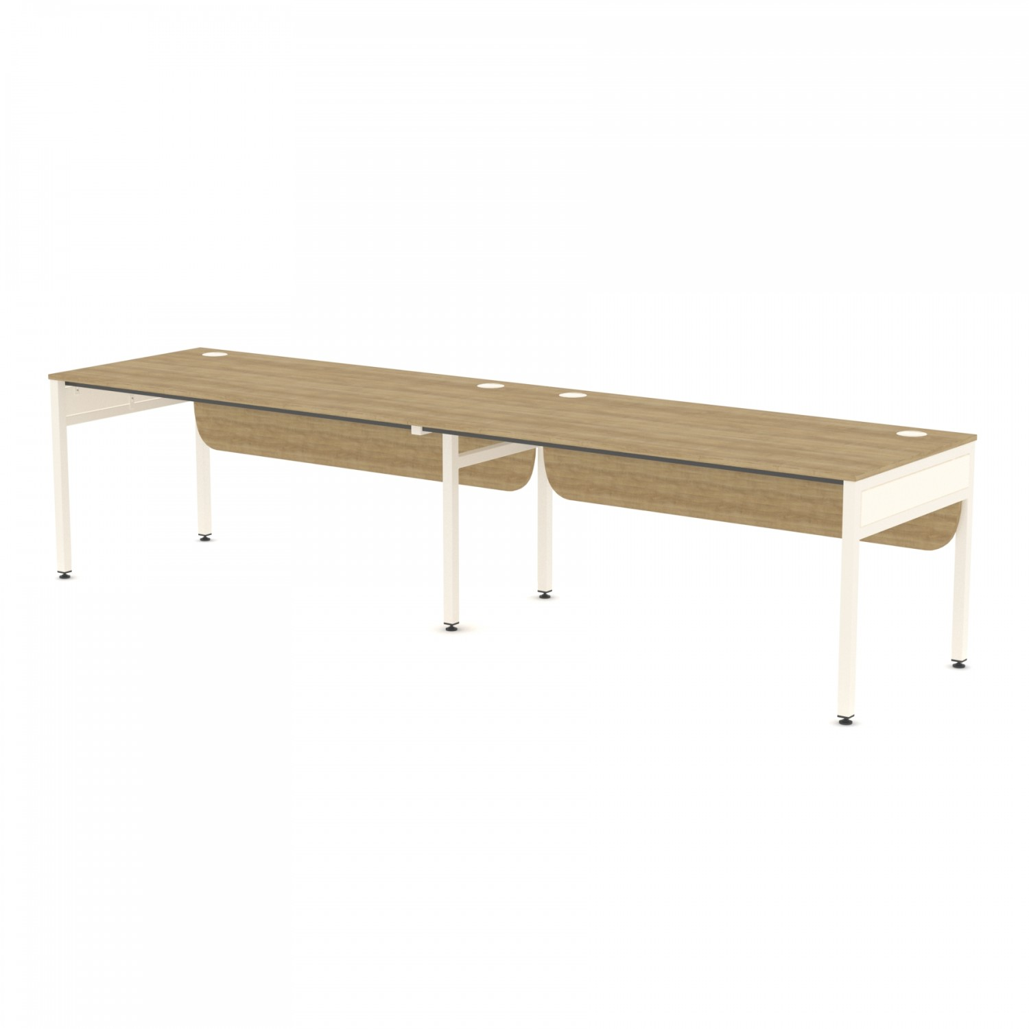 Libra Rectangular Two Desks (Side by Side) Desk