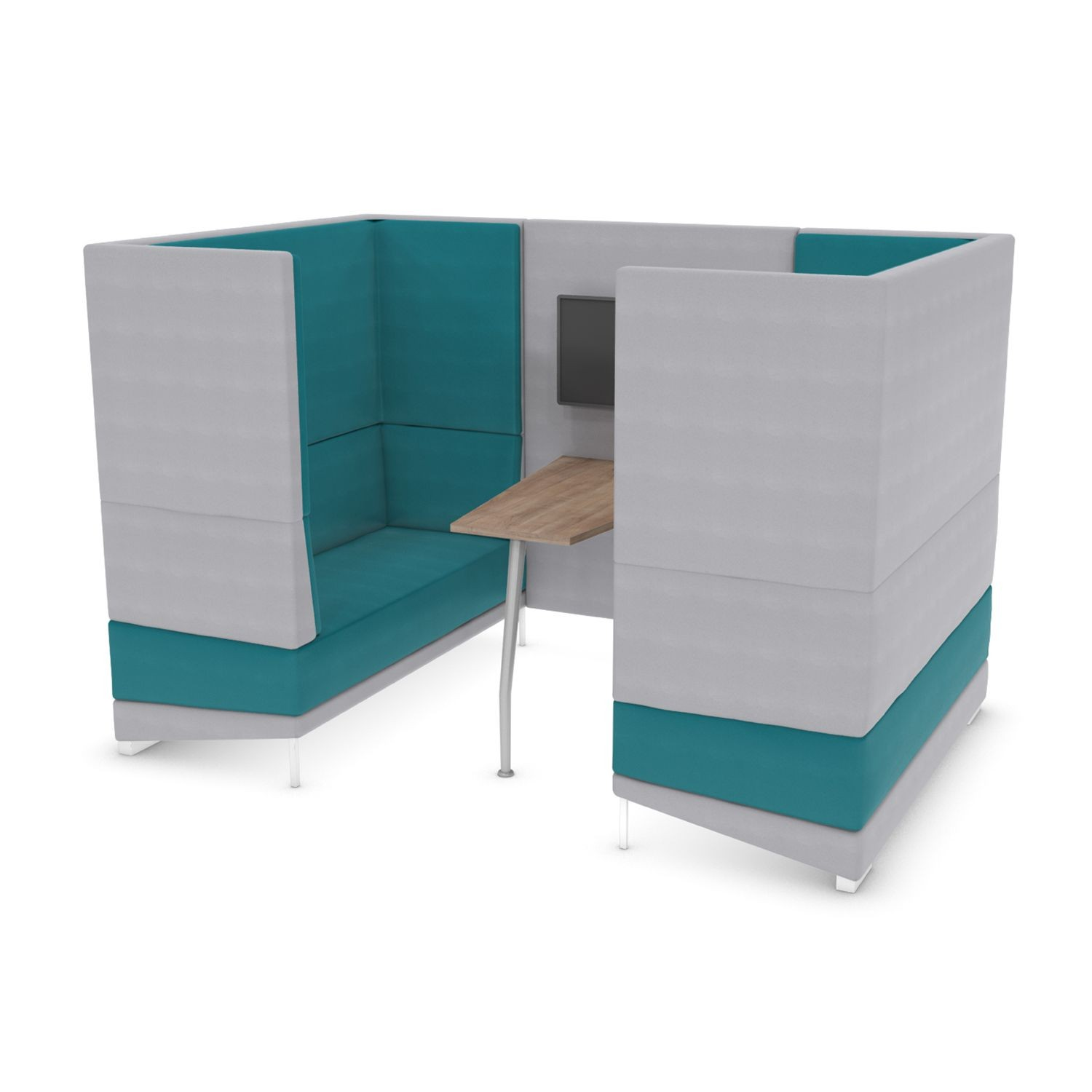 Soft Seating Mount Media Booth