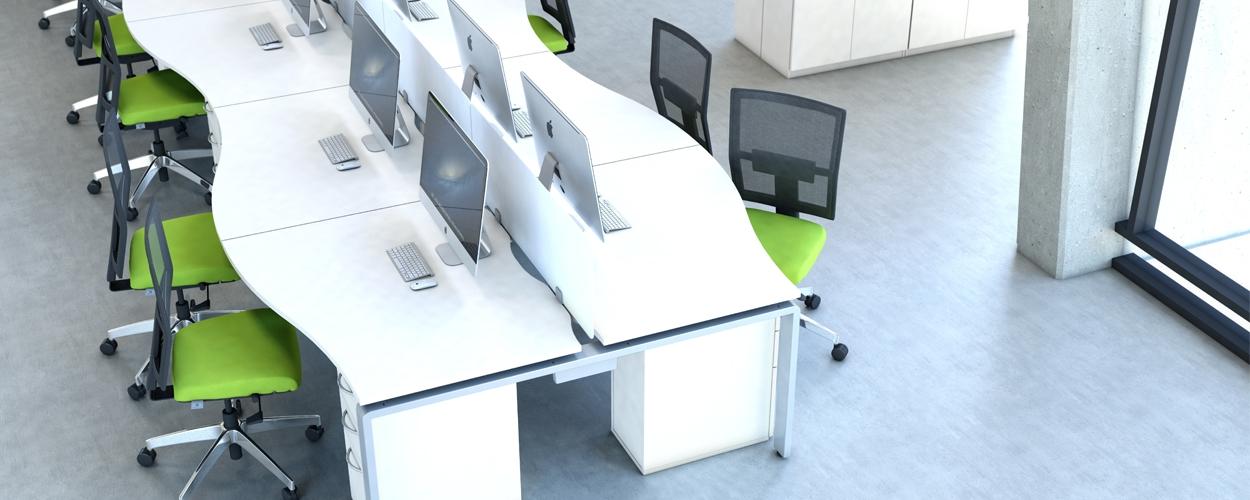AuraBench Wave desk